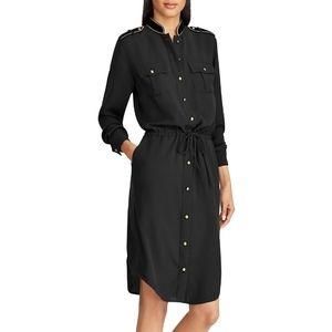 Ralph Lauren Button Front Military Shirt Dress 8